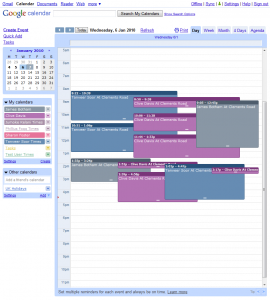 User times are stored in Google Calendar