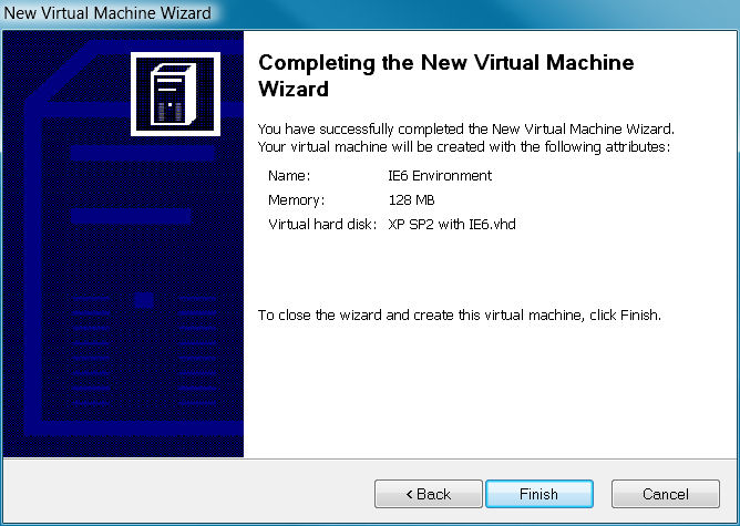 VPC wizard finished