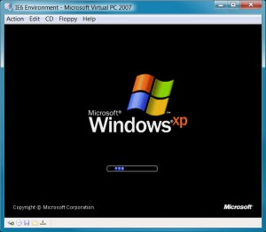 Windows XP booting
