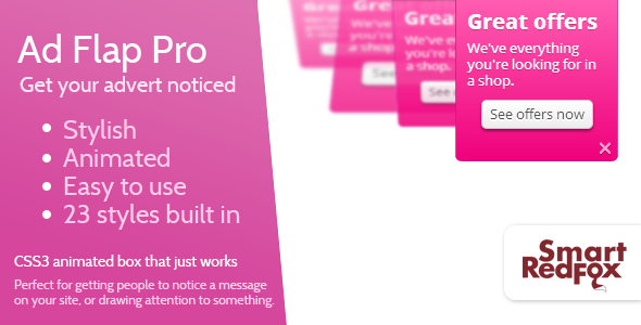 Advertising flap pro - WordPress
